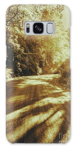 Old Road Galaxy Case - Retro Rainforest Road by Jorgo Photography - Wall Art Gallery