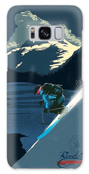 Retro Revelstoke Ski Poster Galaxy Case