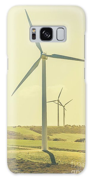 Wind Power Galaxy Case - Retro Rotation by Jorgo Photography - Wall Art Gallery