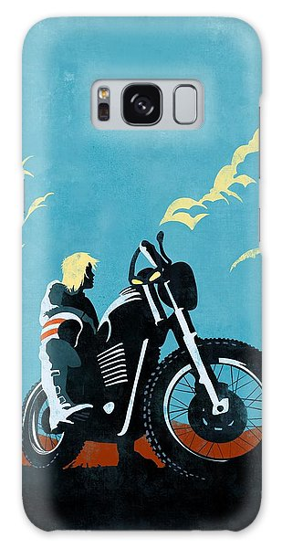Motorcycle Galaxy S8 Case - Retro Scrambler Motorbike by Sassan Filsoof