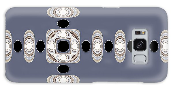 Galaxy Case featuring the digital art Retro Shapes 1 by Fran Riley