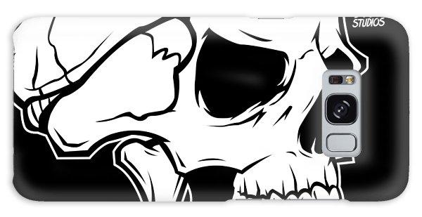 Galaxy Case - Retro Skull by Matt Dyck