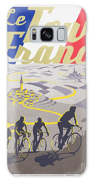 French Galaxy Case - Retro Tour De France by Sassan Filsoof