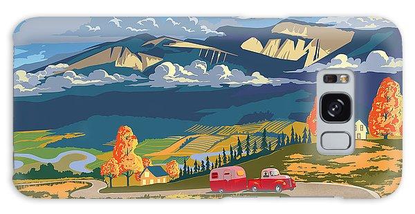 Retro Travel Autumn Landscape Galaxy Case