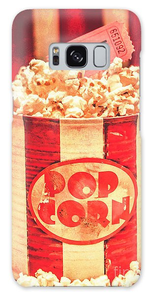 Pass Galaxy Case - Retro Tub Of Butter Popcorn And Ticket Stub by Jorgo Photography - Wall Art Gallery
