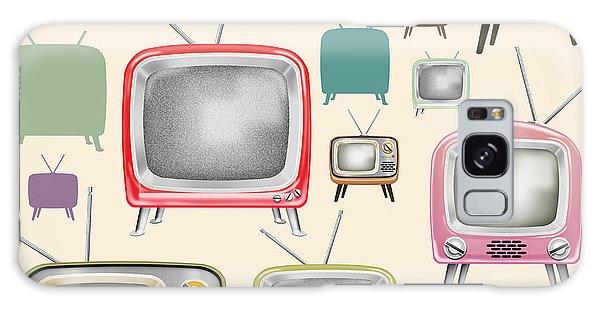 retro TV pattern  Galaxy Case
