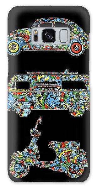 Sixties Galaxy Case - Retro Wheels Floral by Bekim M