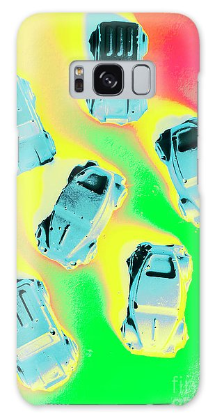 Vintage Cars Galaxy Case - Retroactive Racing by Jorgo Photography - Wall Art Gallery