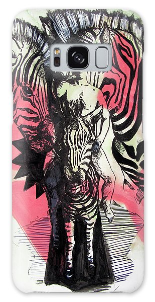 Return Of Zebra Boy Galaxy Case