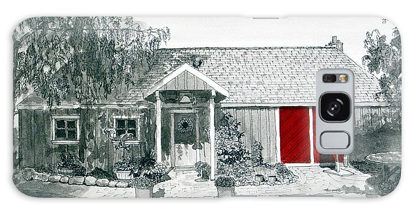 Retzlaff Winery With Red Door No. 2 Galaxy Case