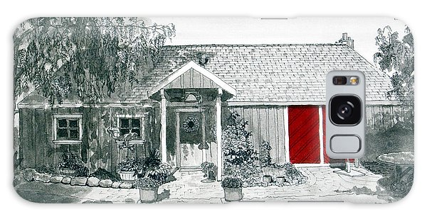 Retzlaff Winery With Red Door No. 2 Galaxy Case by Mike Robles