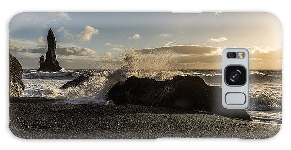 Galaxy Case featuring the photograph Reynisdrangar by James Billings