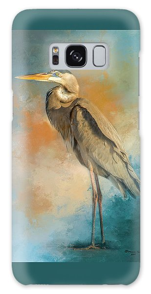 Egret Galaxy Case - Rhapsody In Blue by Marvin Spates