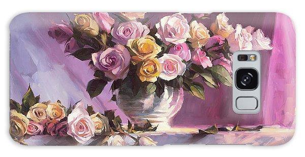 Peach Galaxy Case - Rhapsody Of Roses by Steve Henderson