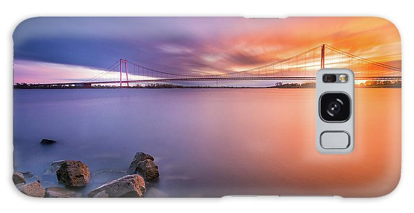 Rhine Bridge Sunset Galaxy Case