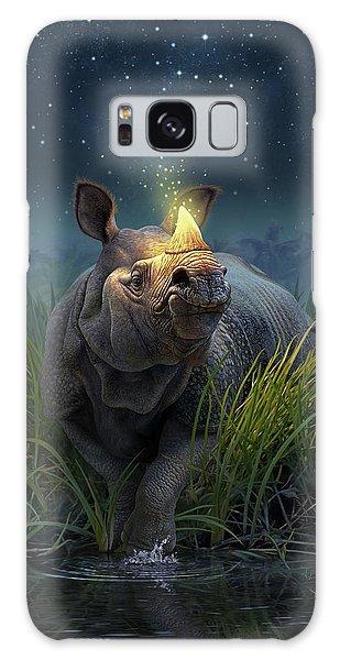 Rhinoceros Unicornis Galaxy Case
