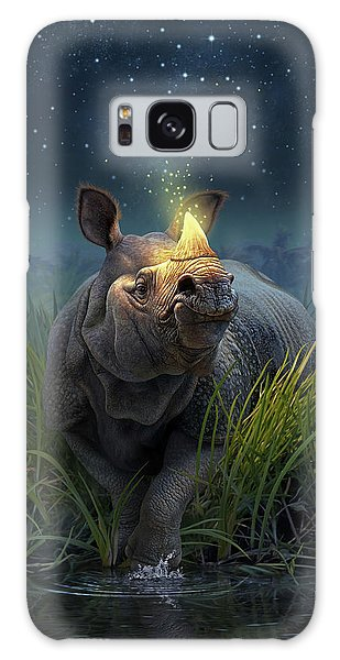 Reflections Galaxy Case - Rhinoceros Unicornis by Jerry LoFaro