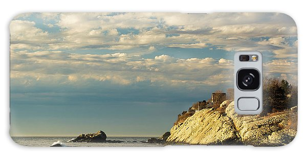 Rhode Island Beach In Winter Galaxy Case