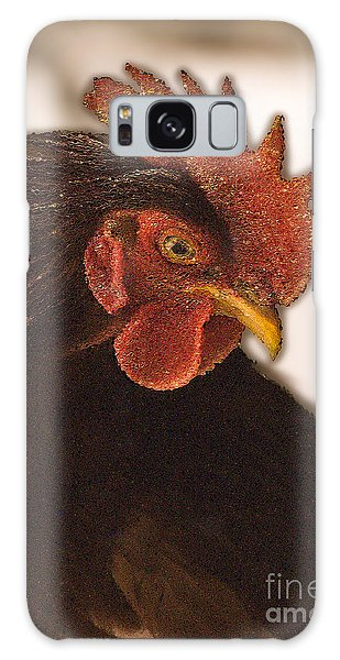 Rhode Island Red Rooster Galaxy Case by George Robinson