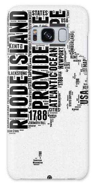 Usa Galaxy Case - Rhode Island Word Cloud 1 by Naxart Studio