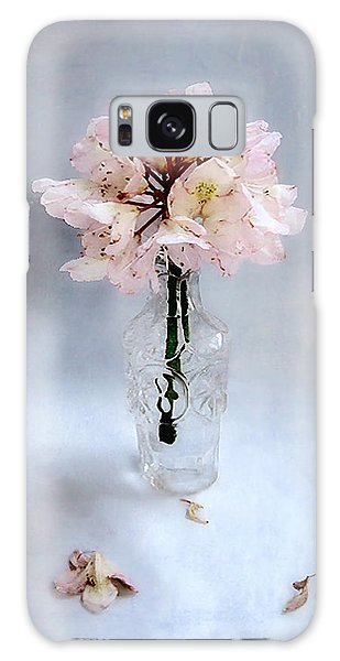 Rhododendron Bloom In A Glass Bottle Galaxy Case by Louise Kumpf