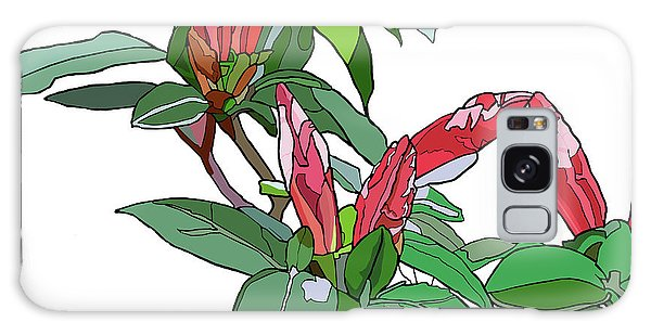 Rhododendron Buds Galaxy Case