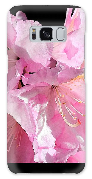 Rhododendron On Black Galaxy Case