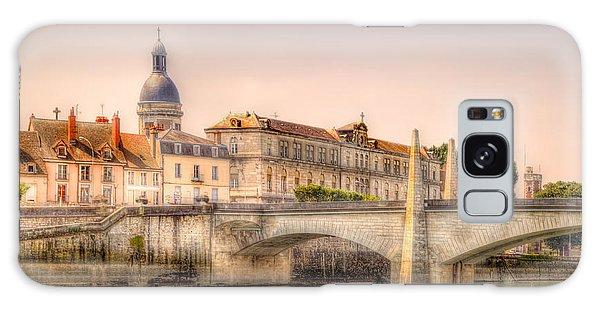 Bridge Over The Rhone River, France Galaxy Case