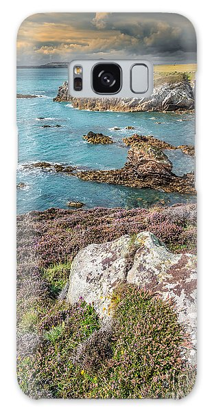 Sea Stacks Galaxy Case - Rhoscolyn Head by Adrian Evans