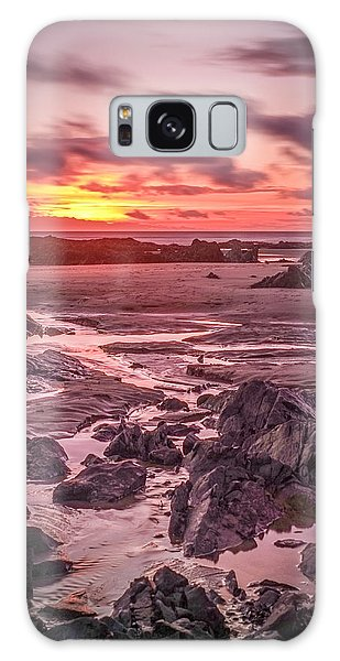 Rhosneigr Beach At Sunset Galaxy Case