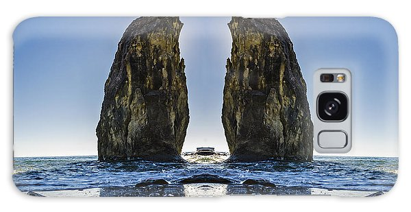 Sea Stacks Galaxy Case - Rialto Beach Sea Stack Reflection by Pelo Blanco Photo
