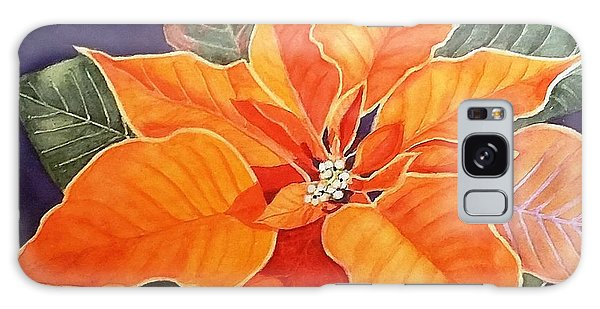 Ribbon Candy Poinsettia Galaxy Case