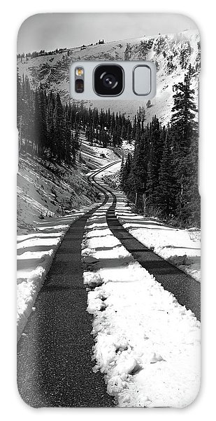 Ribbon To The Unknown Monochrome Art By Kaylyn Franks Galaxy Case