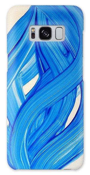 Ribbons Of Love-blue Galaxy Case
