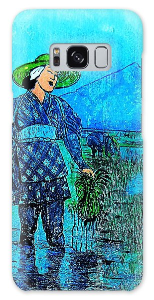 Rice Field Blues Galaxy Case by Roberto Prusso