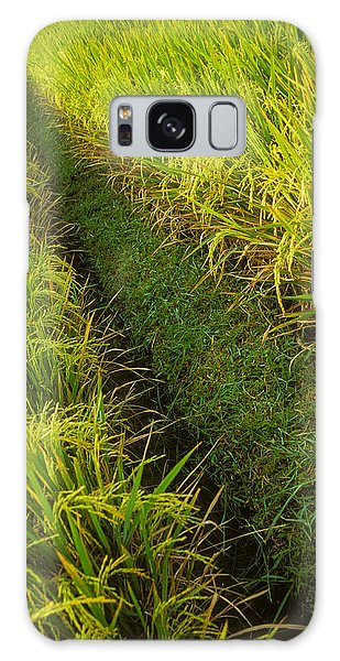 Rice Field Hiking Galaxy Case