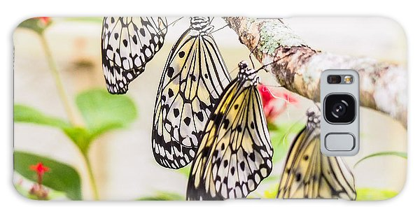 Rice Paper Butterflies Galaxy Case
