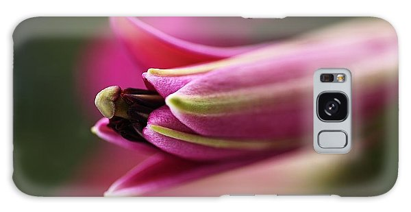 Rich Pink Lily Bud Galaxy Case by Joy Watson
