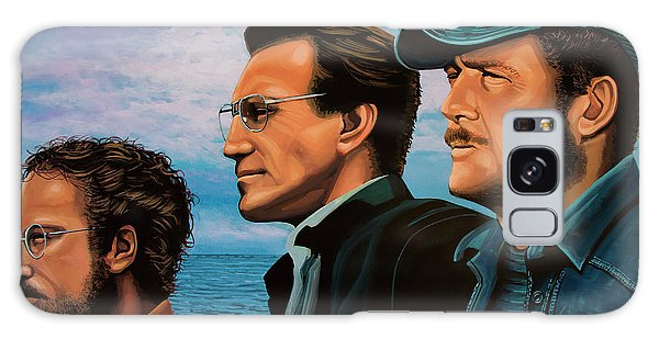 Sharks Galaxy Case - Jaws With Richard Dreyfuss, Roy Scheider And Robert Shaw by Paul Meijering