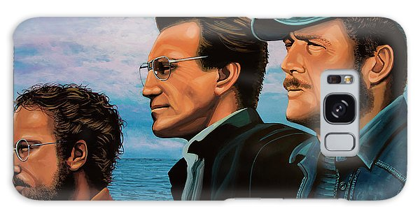 Jaws With Richard Dreyfuss, Roy Scheider And Robert Shaw Galaxy Case by Paul Meijering