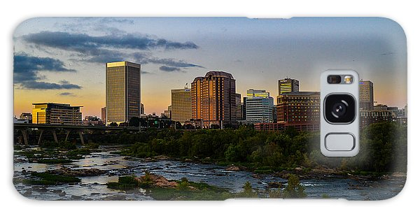 Richmond Skyline At Dusk Galaxy Case