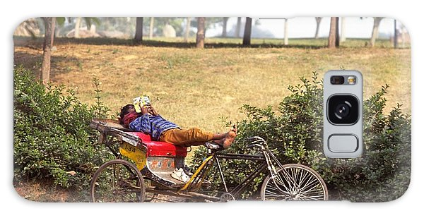 Rickshaw Rider Relaxing Galaxy Case