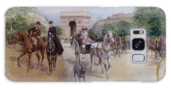 Riders And Carriages On The Avenue Du Bois Galaxy Case