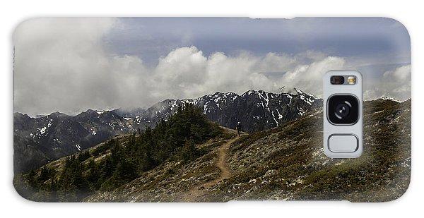 Ridge Walking In The Olympic Mountains Galaxy Case