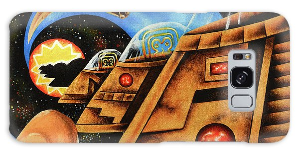 Strange Clouds Galaxy Case - Riding Center by Victor Rosario