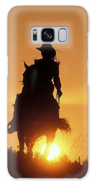 Galaxy Case - Riding Cowgirl Sunset by Shawn Hamilton