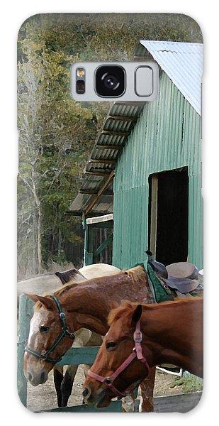 Riding Horses Galaxy Case by Kim Henderson