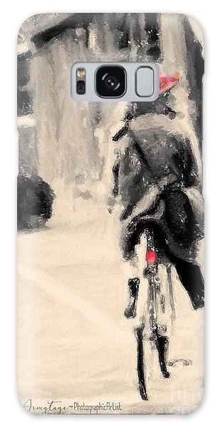 Riding My Bicycle In A Red Hat Galaxy Case