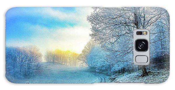 Rime Ice Sunrise Galaxy Case
