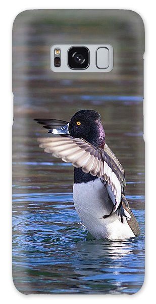 Ring-necked Duck Wings Up Galaxy Case